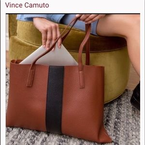 Vince Camuto Brown/Black Tote Bag
